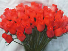 WHOLESALE JOB LOT CLEARANCE VALENTINES GIFT RED  ARTIFICIAL FLOWERS WOODEN ROSES