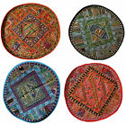 "INDIAN 38"" 100cm Round Circle Tapestry Wall Hanging Table Runner Recycled Sari"