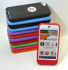 Double Layer Hybrid Hard Gel Case Cover for iPod Touch 5th Gen Built In Screen