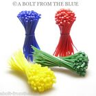 CABLE TIES PICK YOUR COLOUR, LENGTH, AMOUNT - ZIP TIE RED BLUE GREEN YELLOW
