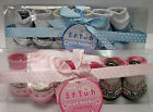 SOFT TOUCH NOVELTY GIFT BOXED BABY SOCKS GIRLS/BOYS 3 PAIR IN BOX 6-12 MONTH