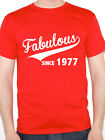 FABULOUS SINCE 1977 - Birth Year / Birthday Gift / Novelty Themed Men's T-Shirt