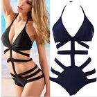 Sexy Womens One-piece Swimsuit Cut Out Push up Padded Bikini Swimwear Monokini