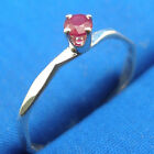 Natural Ruby Hammered Faceted stacker ring band, Hand Crafted sizes 1 - 12