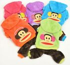 ON SALE NOW! ( USA Seller) Cute Monkey Dog Clothes small dogs w/pants XS,S,M,L