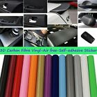 "60""x24"" 152x60cm 3D Carbon Fiber Car Vinyl Wrap Sticker Self-adhesive Wall Paper"