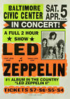 Led Zeppelin in Concert - Vintage Art Print Poster - A1 A2 A3 A4 A5