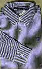 Ralph Lauren Polo Pony Butn Down Equestrian Srtiped Slim Dress Shirt 4 6 8 12 14