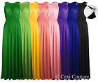 NEW LADIES LONG STRETCH WOMENS MAXI DRESS COIL SPRING  ONE SIZE