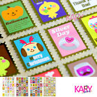 Cute Stamp Design Gold Color Colorful Computer Phone Scrapbooking Stickers FL003