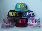 BRAND NEW FLAT PEAK DOPE TWO TONE AZTEC PEAK BASEBALL CAP WITH TAGS AND STICKERS