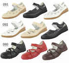 NEW WOMENS LADIES LEATHER VELCRO WORK FLAT COMFORT SHOES SANDALS SIZE 3-8