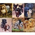 """Brand New Artists Dogs 79"""" x 95"""" Super Plush Faux Mink Blanket - in 6 Styles"""