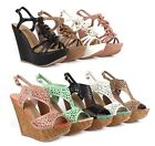 Strappy Open Toe Gladiator Pump Womens Heels Sandals Shoes Platforms Wedges Size