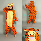 Orange Tigger Kigurumi Pajamas Animal Cosplay Pyjamas Costume Adult Onesies