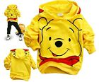 Trendy Baby Winnie the Pooh Kids Boys Girls Long Sleeve Hoodies Clothes 2-8Years