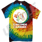 5 SECONDS OF SUMMER TIE DYE T SHIRT SOS ONE DIRECTION 1 ZAYN MALIK TYE DIE TOP