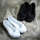ByTheR Oriental Solid Black Jelly Shoes Slip-On Rubber Korean Traditional Sliper