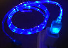 3ft Led El Light-up Data Sync Usb Charger Cable For Apple Iphone 7 6 6 Plus 5 5s