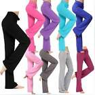 Womens Yoga Pant Trousers Cotton Practise Pants Exercise Lounge Sports Long Pant
