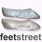 Satin Bridesmaid  Wedding  Ballet  Dance Shoes in White or Ivory.
