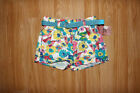 girls shorts baby NEW white pink blue flowers cotton size 6-9 9-12 12-18 months