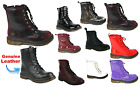 Ladies Women's DM1 Style Retro Vintage Punk Goth Combat Lace Ankle Shoes Boots
