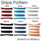 "2Pcs Red/Blue/Black White Stripe Throw PillowCase Decor Cushion Cover 18"" or 24"""