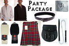 Great Gift: Mens Fun Party Kilt Package - Casual Scottish Outfit - Stewart Royal