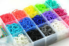 600 COLOURFUL RAINBOW LOOM RUBBER BANDS BRACELET MAKING KIT TWISTZ BANDZ DIY KIT