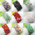 Free Shipping Chips Gemstone Beads Weave Stretch Bracelet 7 inches MBH006
