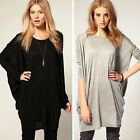 Fashion Womens Batwing Sleeve OverSize T Shirt Casual Loose Long Tops Blouse *01