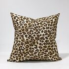 Brown & Black Leopard Animal Print Throw Pillow Cover Pillow Case pick your Size
