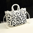 Womens Vintage Shoulder Bag Totem Hollow Out Carved Fringed Ladies Totes HandBag