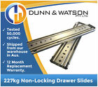 HEAVY DUTY 227kg Non Locking Drawer Slides / Runners - Lengths 356mm to 2007mm