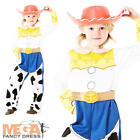 Jessie Toy Story Girls Cowgirl Fancy Dress Up Kids Disney Costume Oufit + Hat