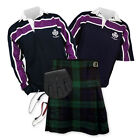 Kilt Outfit 'Sports Essential' - Purple Stripe Rugby Top - Black Watch