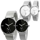 New Elegant Classic Womens Men's Quartz Stainless Steel Wrist Watch B58U
