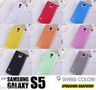 CUSTODIA COVER ULTRA SOTTILE 0.3mm Samsung Galaxy S5 SLIM TRASPARENTE OPACA