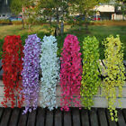 1 Pcs  String Artificial Fake Flowers Vine Ivy Garland Wall Home Floral Decor
