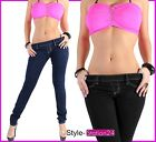 Sd25 Sexy Treggings Leggings Skinny Jeans Tube Jeans Denim Trousers Xs 34 - Xl