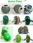 925 Sterling Silver Green Time Beads Group fit European Charm Bracelets