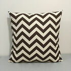 Off-White / Brown Zigzag Chevron Home Accent Throw Pillow Cover Pillow Case