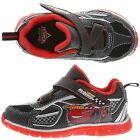 DISNEY CARS LIGHT WEIGHT BLACK KIDS  TODDLER VELCRO UP TENNIS SHOES SNEAKERS~NEW