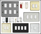 GRID SWITCH PLATES. FIT CRABTREE ROCKERGRID 1, 2, 3, 4, 6, 8 GANG. YOLK INCLUDED