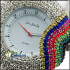 UK CH Fashion Ladies Rubber Crystal Womens Bling Bling Vogue Watch Colorful Chic
