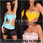 NEW SEXY CLUBBING TOP womens CLUBWEAR 6 8 10 HOT DANCE WEAR PARTY SHIRT XS S M