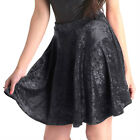 NEW MISO Black Velvet Mini Skirt 10-14 Full-Circle Party/Evening Skater Designer