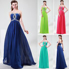 Glam Bridesmaid Party Prom Evening Gown Long Chiffon Dress UK 6 8 10 12 16 18 20