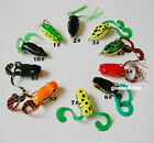 3PCS Soft Frog Lure Bass Fishing Hooks Bait Tackle Topwater 5.5cm 11g